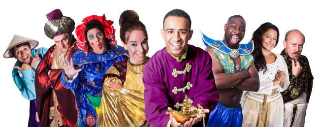 The cast of Aladdin, Croydon's pantomime for 2016