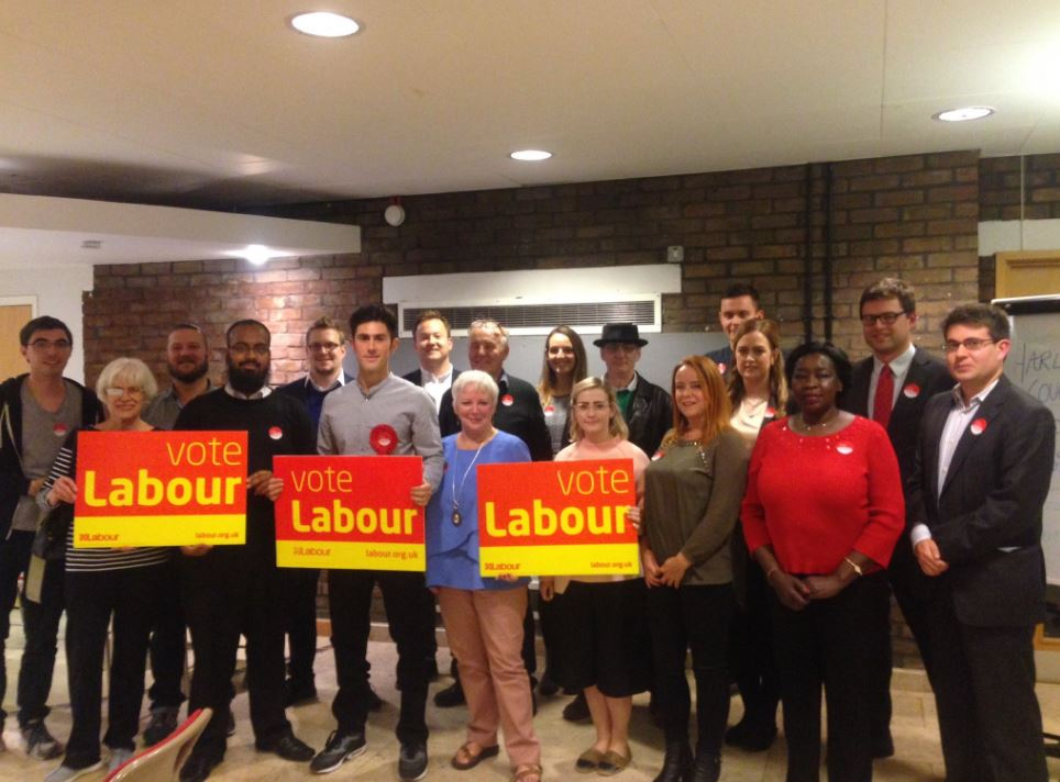 The newly elected Councillor Dikerdem (centre, in grey) on the campaign trail. Photo: Aminur Rahman for Battersea Labour