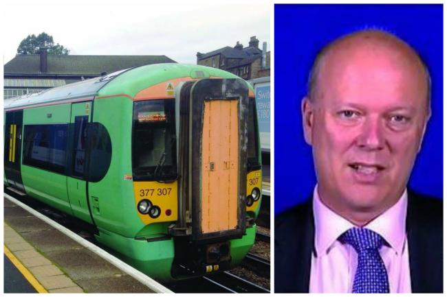 Transport Secretary Chris Grayling, right, continued to blame the unions for the months of disruption to Southern services