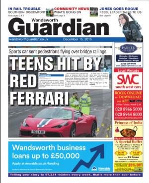 Wandsworth Guardian: The e-newspaper is your weekly copy of your favourite local newspaper delivered to your inbox. Sign up for free here >