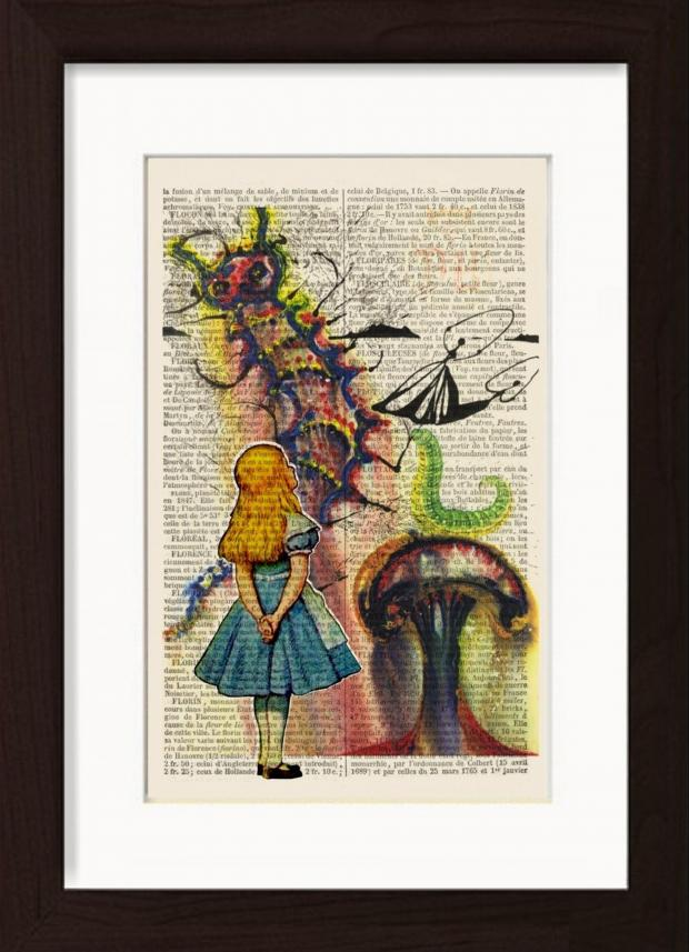 Wandsworth Guardian: Handmade at Amazon Alice In Wonderland Print by Dictionary Page Print, £18