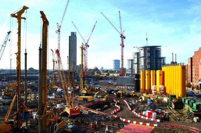 Construction work has been going on at Nine Elms for a number of years