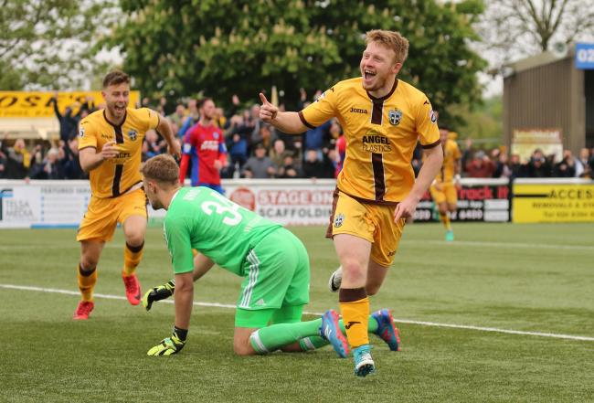 Tommy Wright put Sutton United ahead against Aldershot on Saturday. Picture: Paul Loughlin