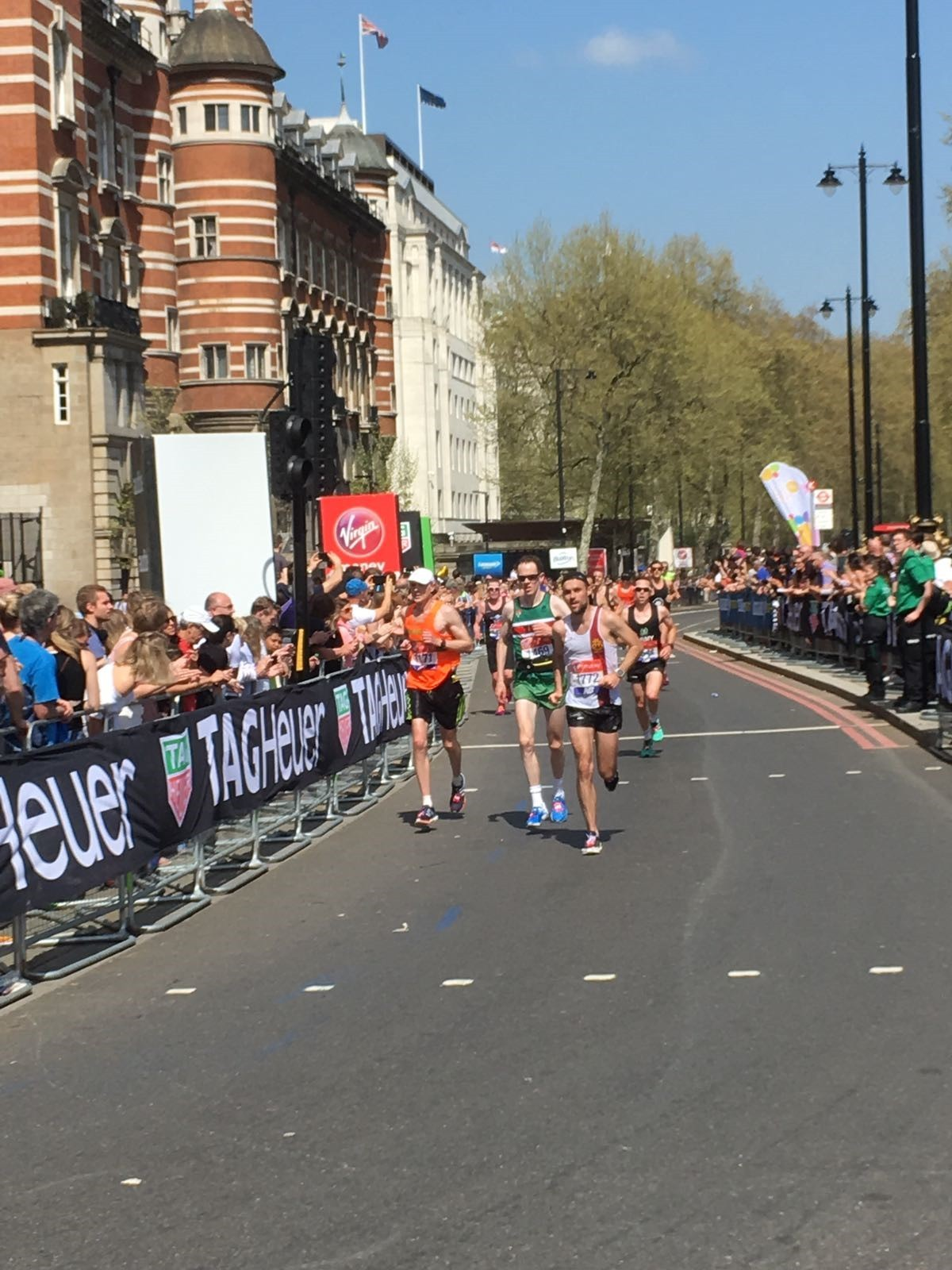 Joe Croft( right) during the London Marathon