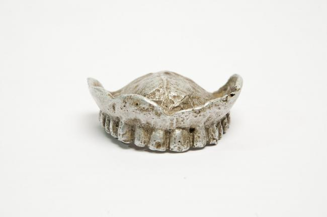 An improvised denture for a British prisoner of war in the 1940s (British Dental Association Museum/Philip Gierlinski)