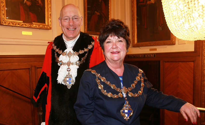 Mayor of Wandsworth Cllr Piers McCausland and Deputy Mayor Cllr Jane Cooper