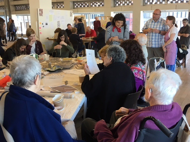 Nightingale House residents with members of the public during a workshop