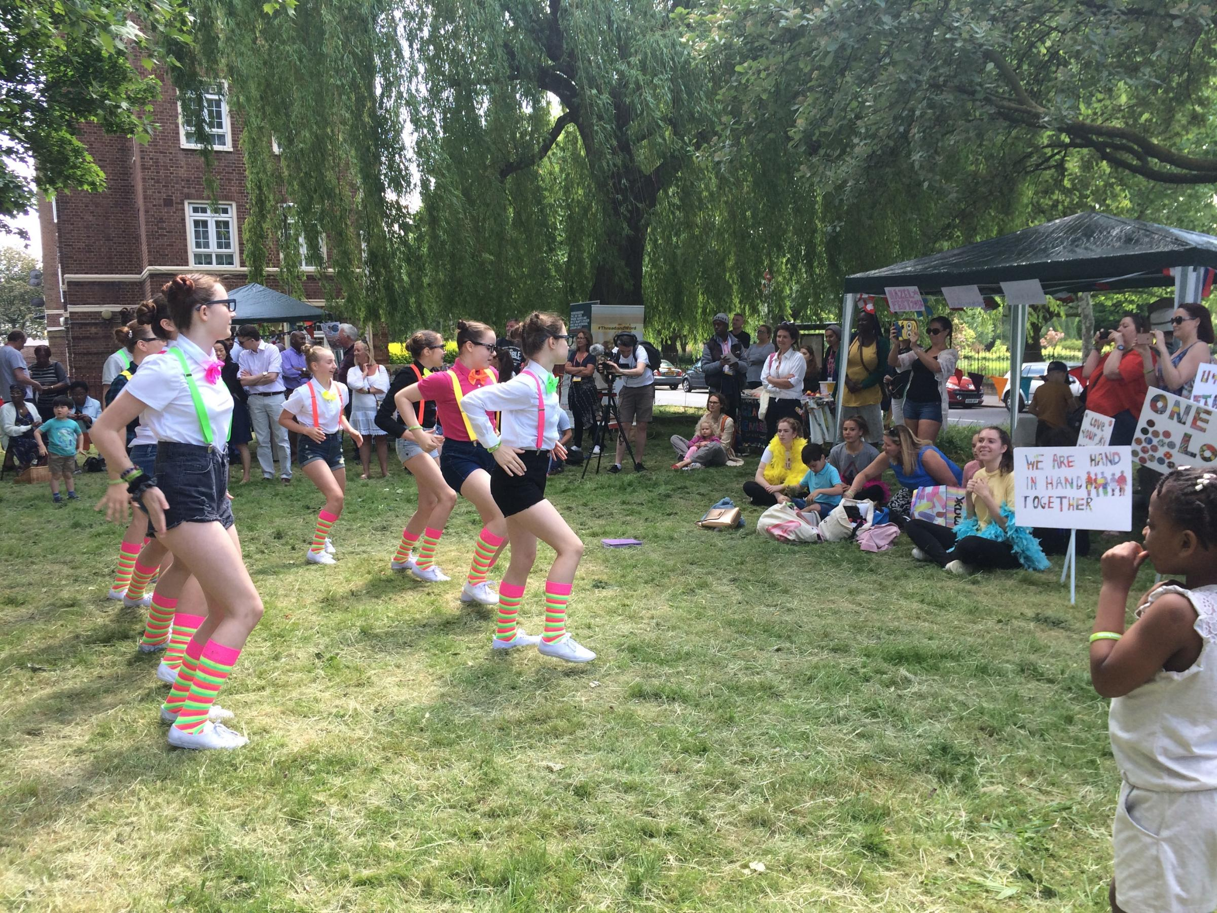The Gemini Dancers of Earlsfield performing