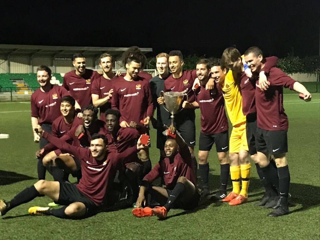 Balham FC after winning the London Senior Cup 2017/2018