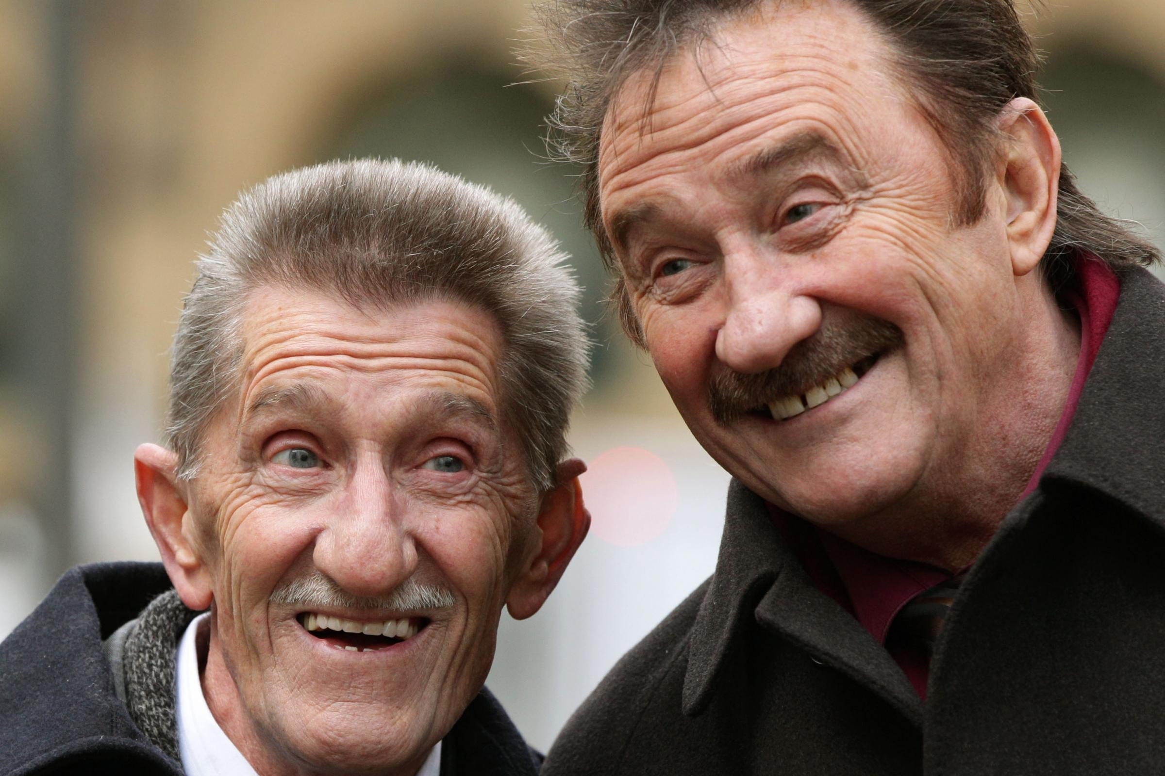 Rotherham dedicated their win to Barry Chuckle, left