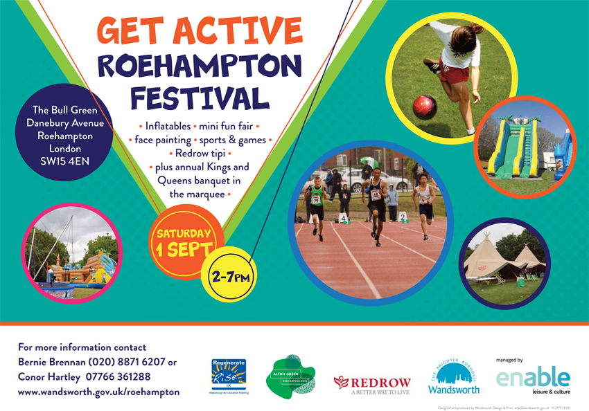 Get Active Roehampton Festival is free to attend.