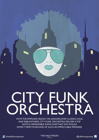 City Funk Orchestra: Live Music Live at Half Moon Putney London Sat 24 Nov