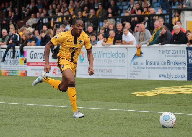 Aswad Thomas scored a late consolation for Sutton United at Barrow. Picture: Paul Loughlin