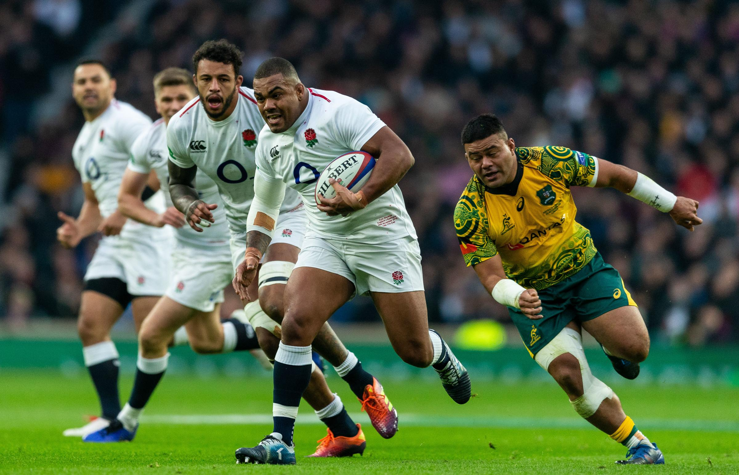 England's Kyle Sinckler during the Quilter Autumn International at Twickenham Stadium, London. Photo: Paul Harding/PA Wire.
