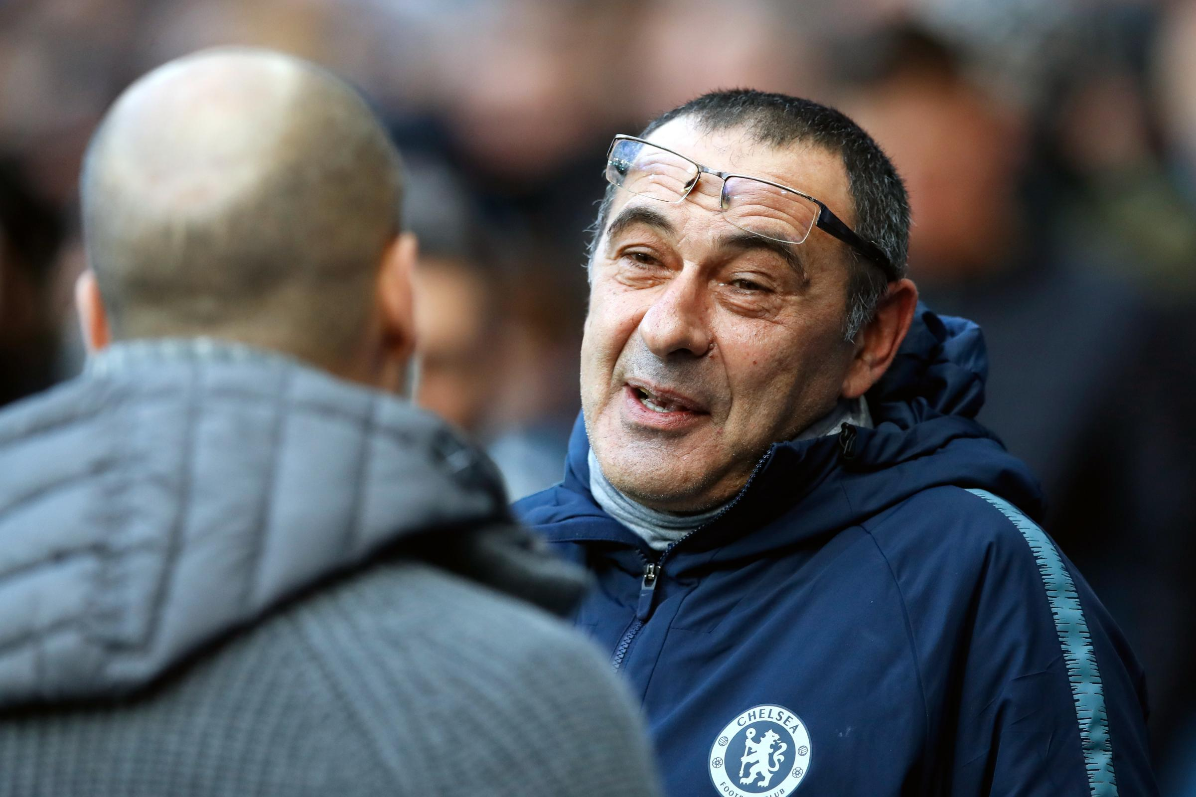 Chelsea manager Maurizio Sarri (right) saw his men well beaten