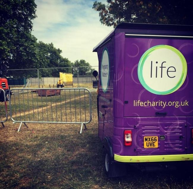 Life's stall at the Lambeth Country Fair