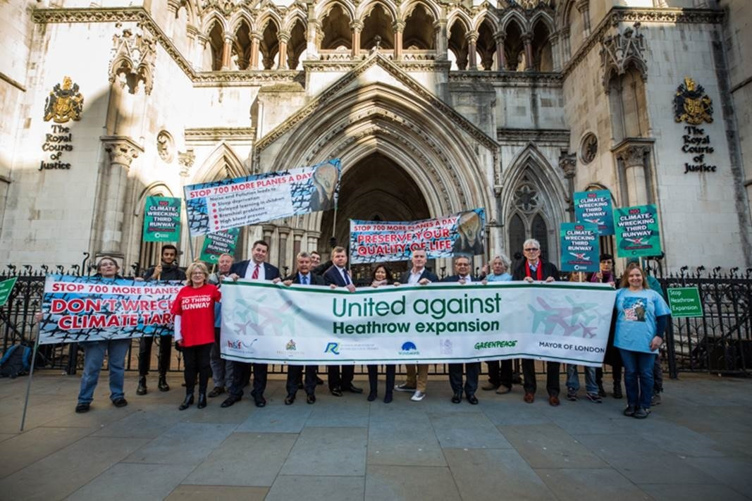 Representatives from five councils were on hand for the start of the High Court challenge