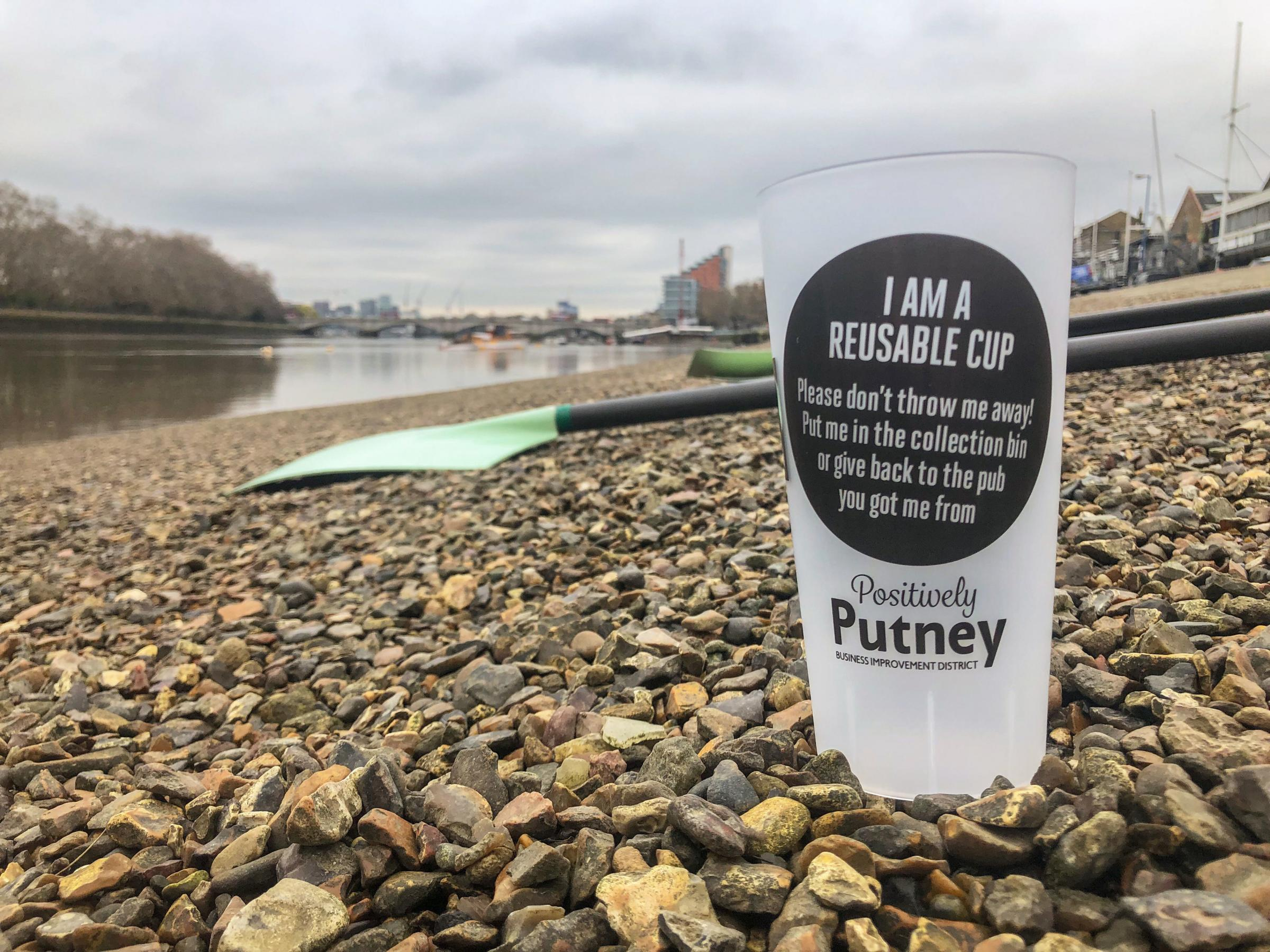 Some 14,000 reusable cups have been ordered and will be used by eight pubs along the river