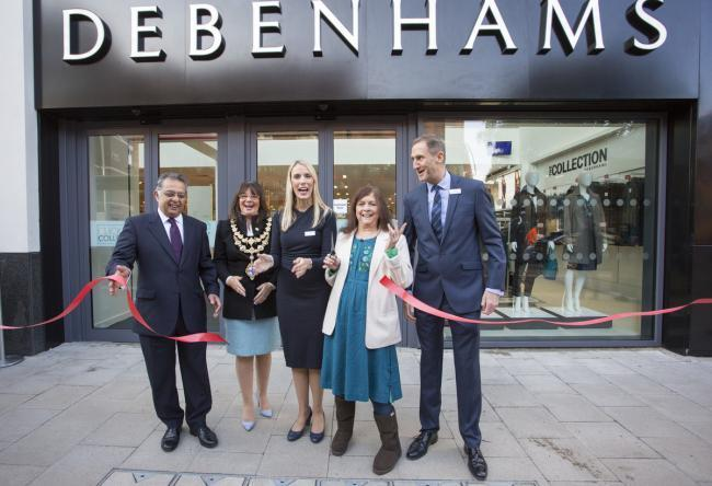 Lynn Evans opening the Southside Debenhams in 2015