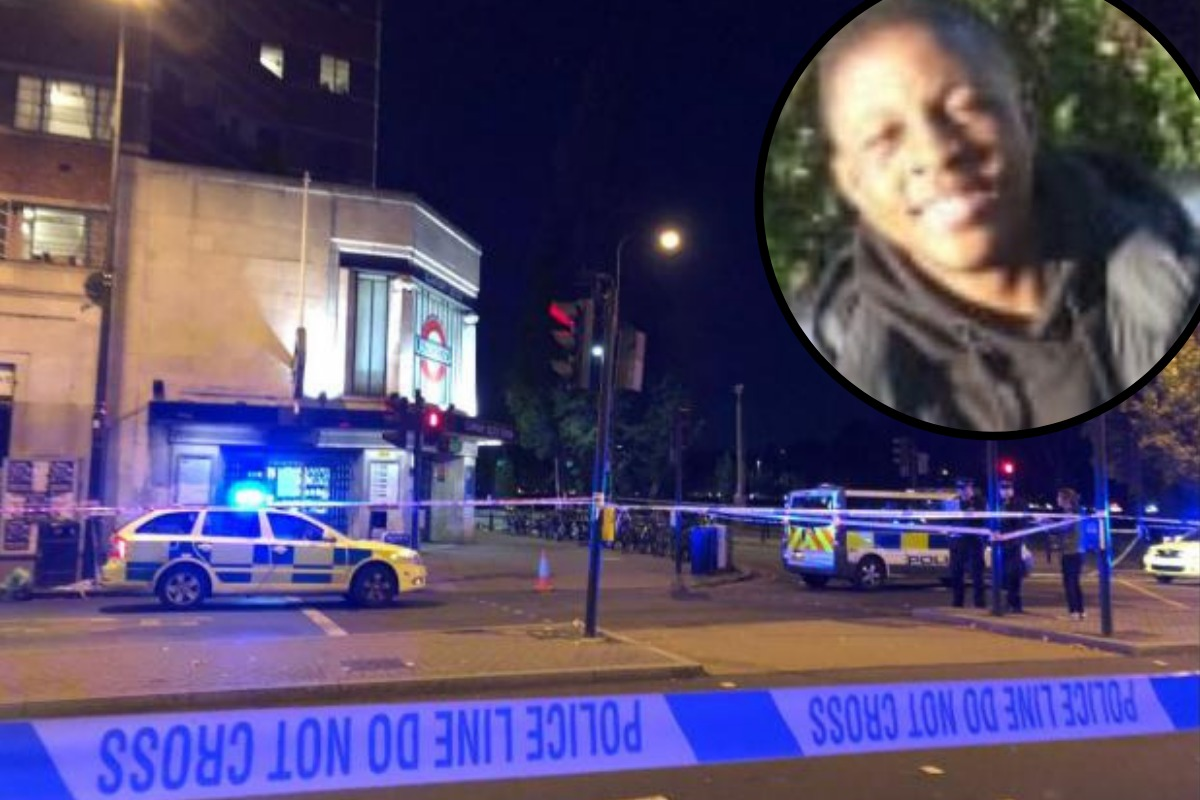 The scene outside Clapham South Tube station where Malcolm Mide-Madariola was killed