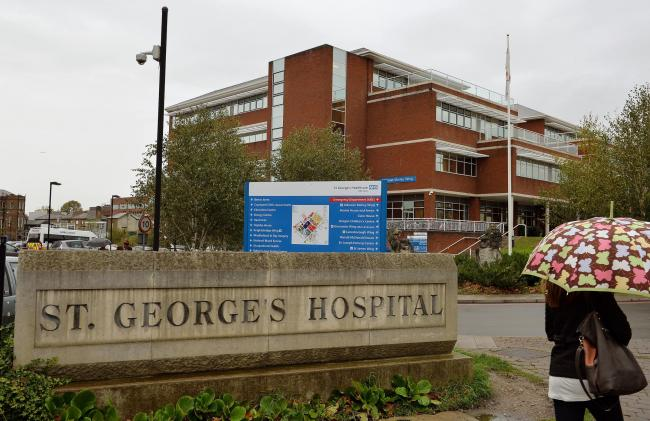 St George's Hospital in Tooting. Photo: John Stillwell / PA