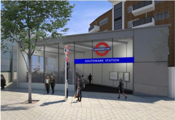 A second entrance to Southwark Tube station was approved by Lambeth Council's planning committee.