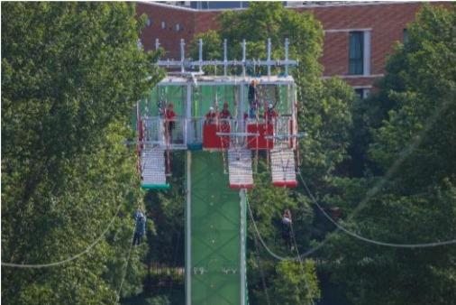 The zip line will be open until September 28. Pic: planning application